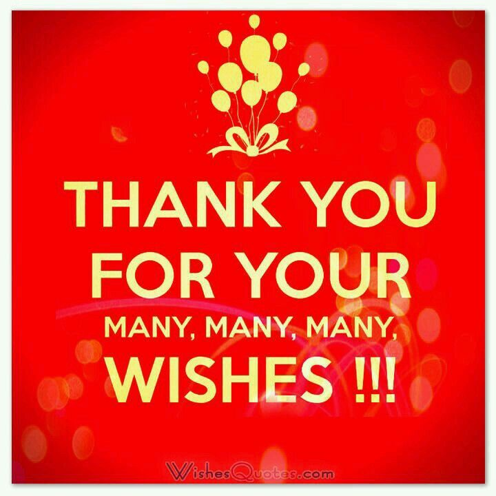 Thank you for your many many many wishes birthday pinterest birthday thank you note samples wishes quotes m4hsunfo
