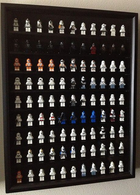 Lego Minifigure Display Case Frame Star Wars Stormtrooper minifigs