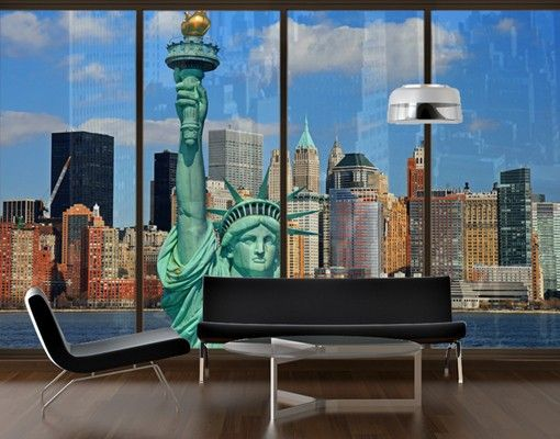 Fensterfolie Xxl Fensterbild New York Skyline Fenster
