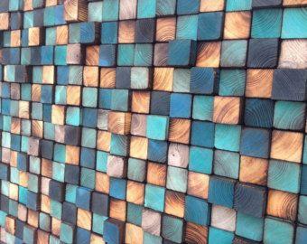 Wandkunst aufgearbeiteten Holz Wandskulptur von WallWooden auf Etsy