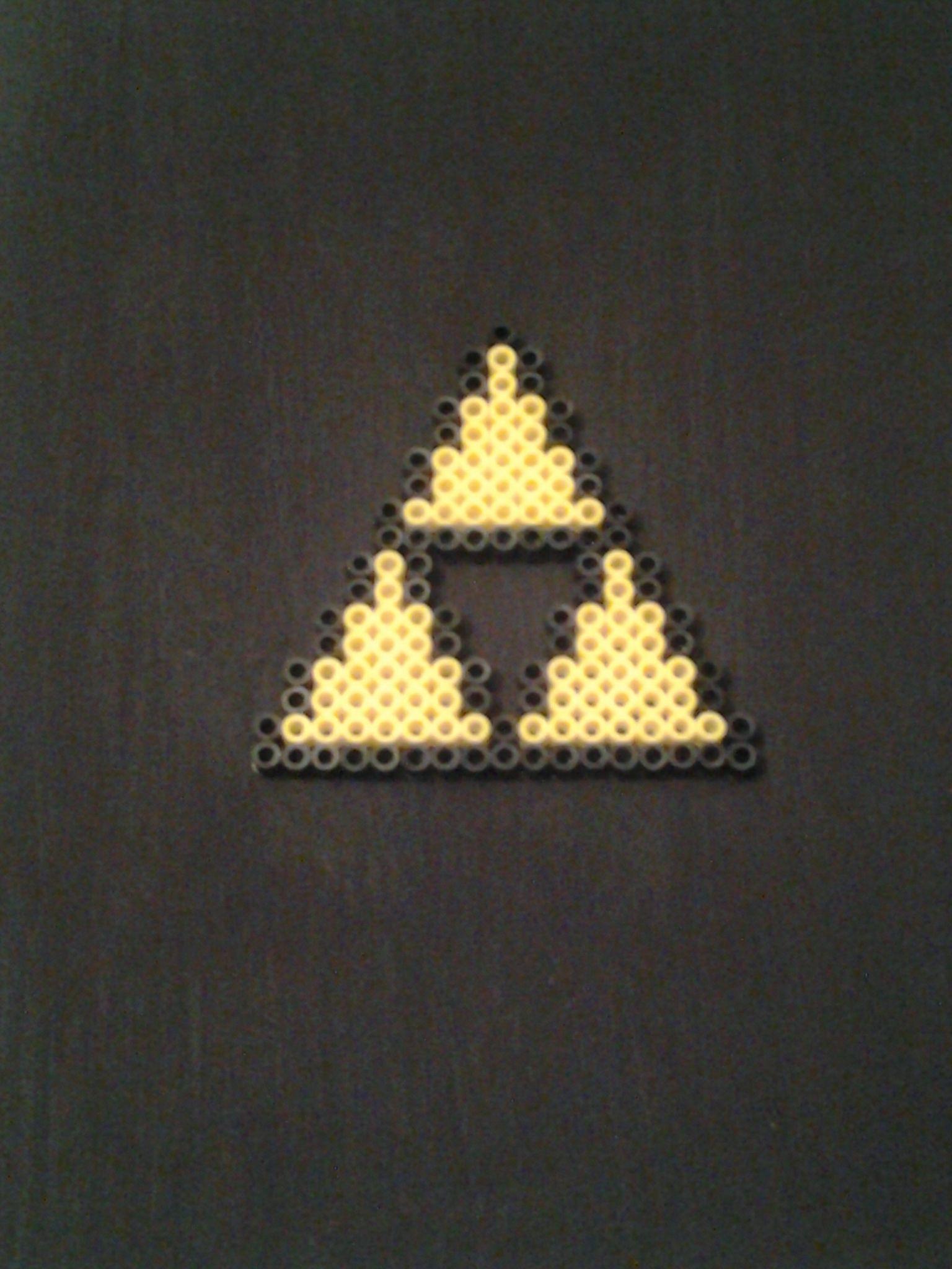Legend Of Zelda Triforce Perler Bead Art By Sams