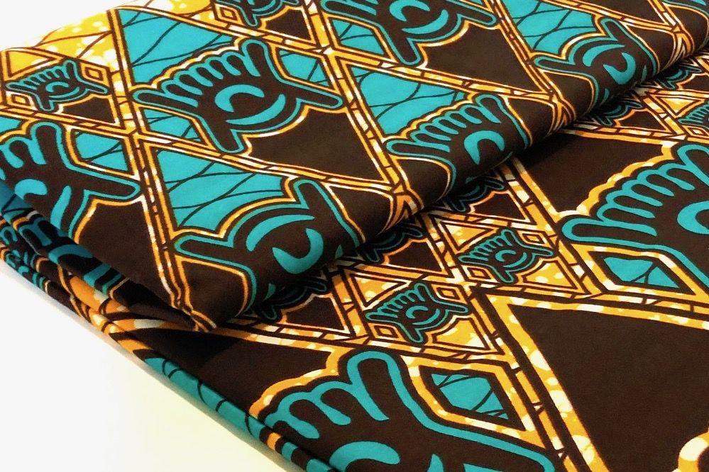 Afrikanischer Wax Print Stoff Afrika Ethnostoff Batik Nahen