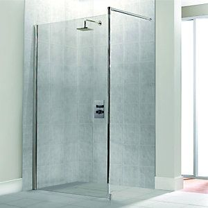 Wickes Single Fix Framed Shower Screen 800mm Wet Rooms Tall Cabinet Storage Locker Storage