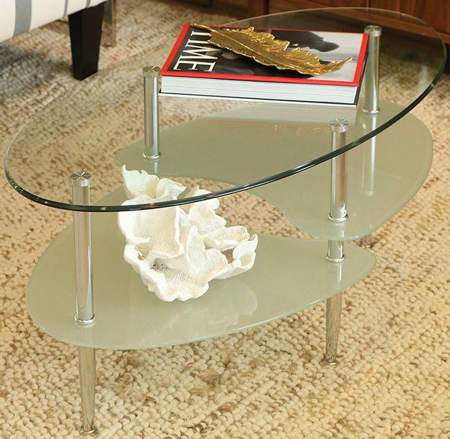 23 Pretty Things For Your Home That Ll Make People Think You Re A Professional Decorator Oval Coffee Tables Oval Glass Coffee Table Glass Top Coffee Table