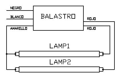 Control De Lampara Fluorescente Desde Dos Puntos Lamparas Fluorescentes Esquemas Electricos Instalaciones Electricas Basicas