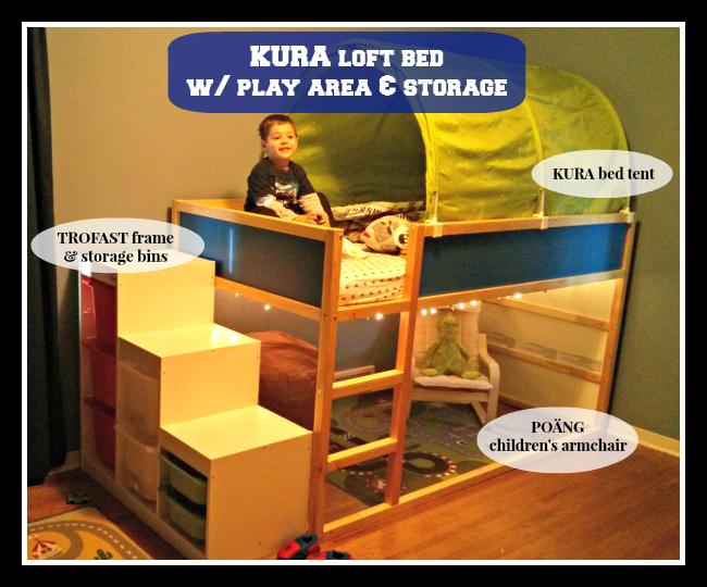 IKEA KURA Loft Bed Leviu0027s new big boy room. I think Logan would LOVE  sc 1 st  Pinterest & IKEA KURA Loft Bed: Leviu0027s new big boy room. I think Logan would ...