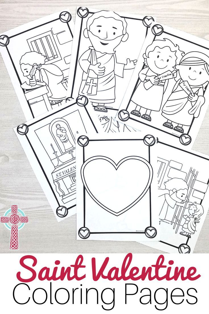 Saint Valentine Coloring Pages for Catholic Kids | Worksheets ...