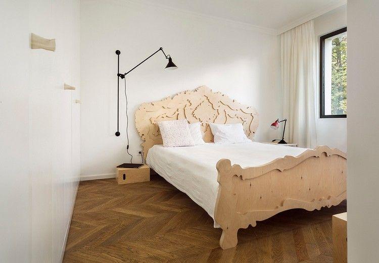 Bettkopfteil aus Holz als interessanter Akzent im Schlafzimmer - wohnideen fur schlafzimmer designs
