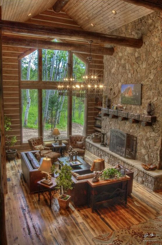 B b builders these builders was spot on with a beautiful for Log and brick home