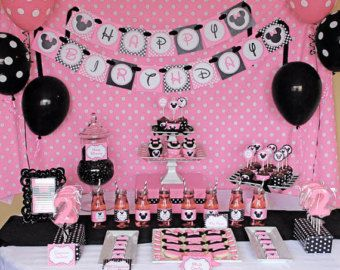SALE Sale DIY Minnie Mouse Light Pink Deluxe PRINTABLE birthday