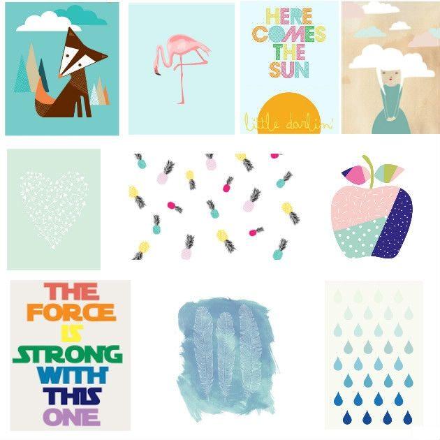 Diy Un Mur D Images A Imprimer Image A Imprimer Affiche Gratuite Affiches Bebe