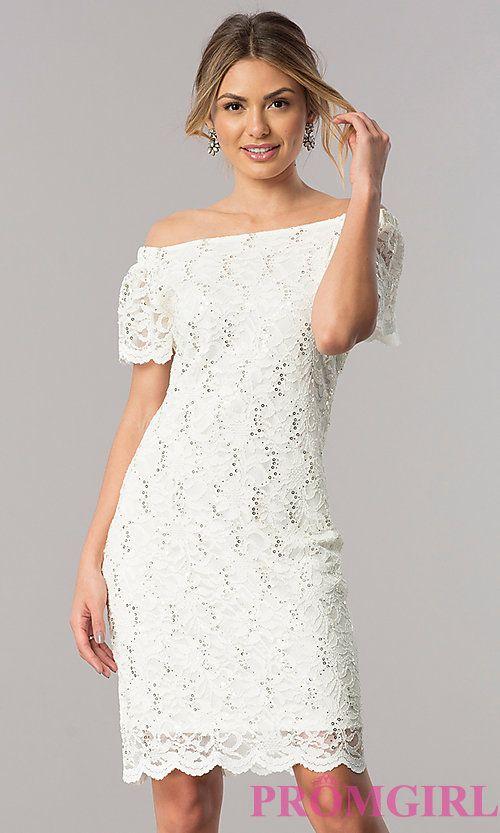 Winter White Knee Length Dress