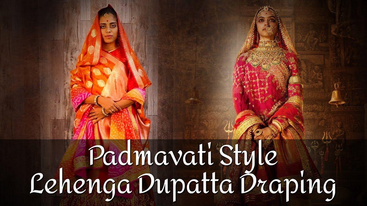 Dupatta draping styles, lehenga choli dupatta, how to wear ...