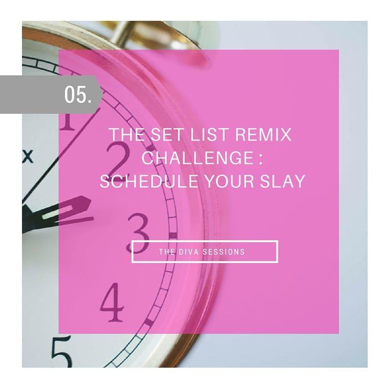Schedule Your Slay Glitz  Glam Calendar Template Market Your