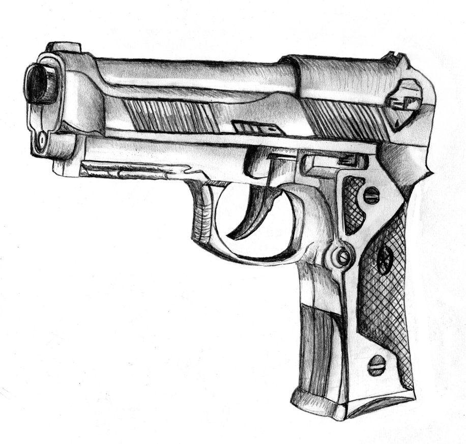 Cool Drawings Of Guns | gun sketch by CcHIKAA on ...