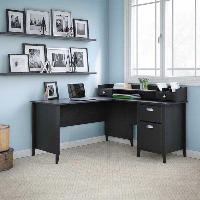 Connecticut lshaped credenza desk in 2020 home office