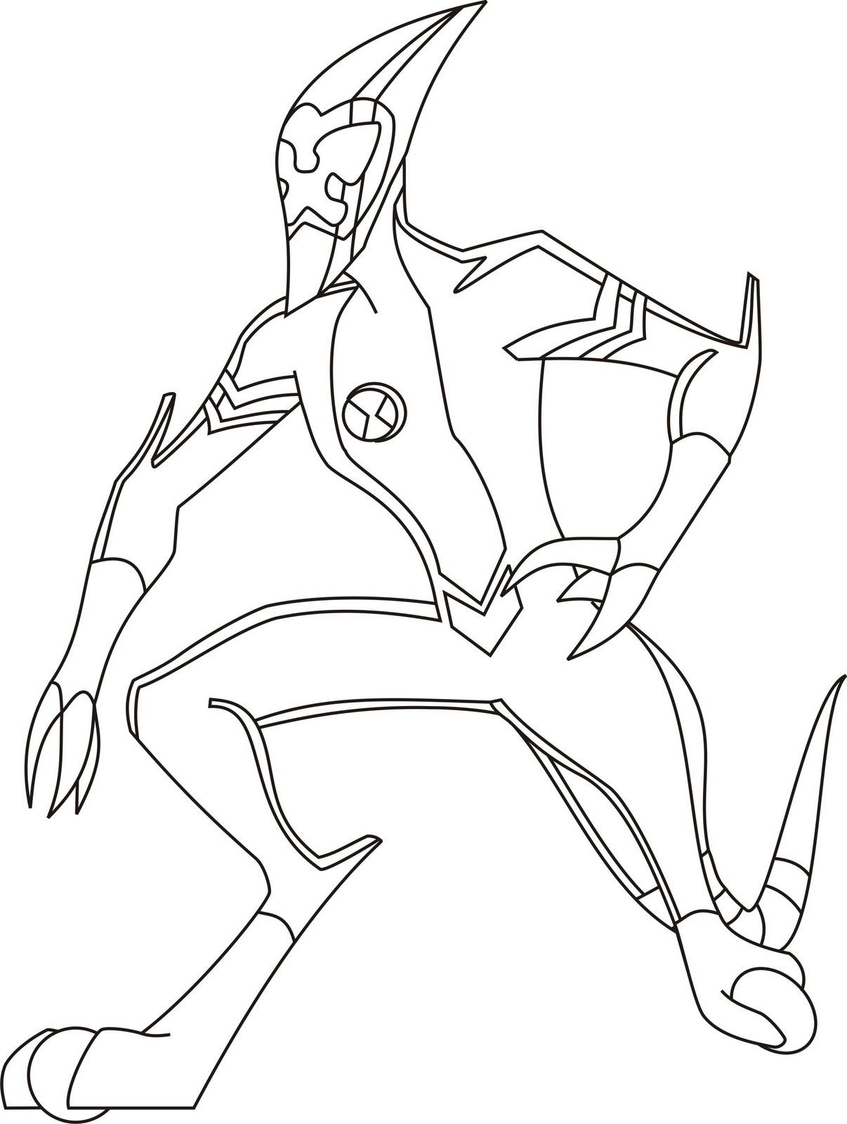 Ben 10 Preparing To Pursue The Enemy Ben 10 Coloring Pages