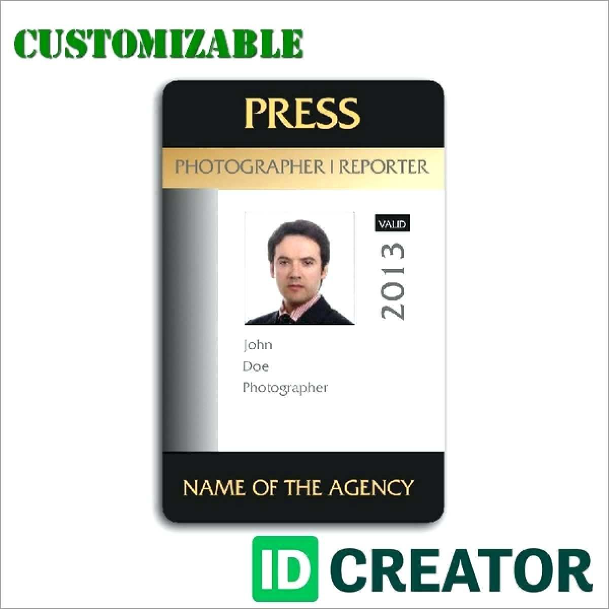 Press Id Template Wecolor Co Within Media Id Card Templates Cumed Org Id Card Template Card Templates Identity Card Design