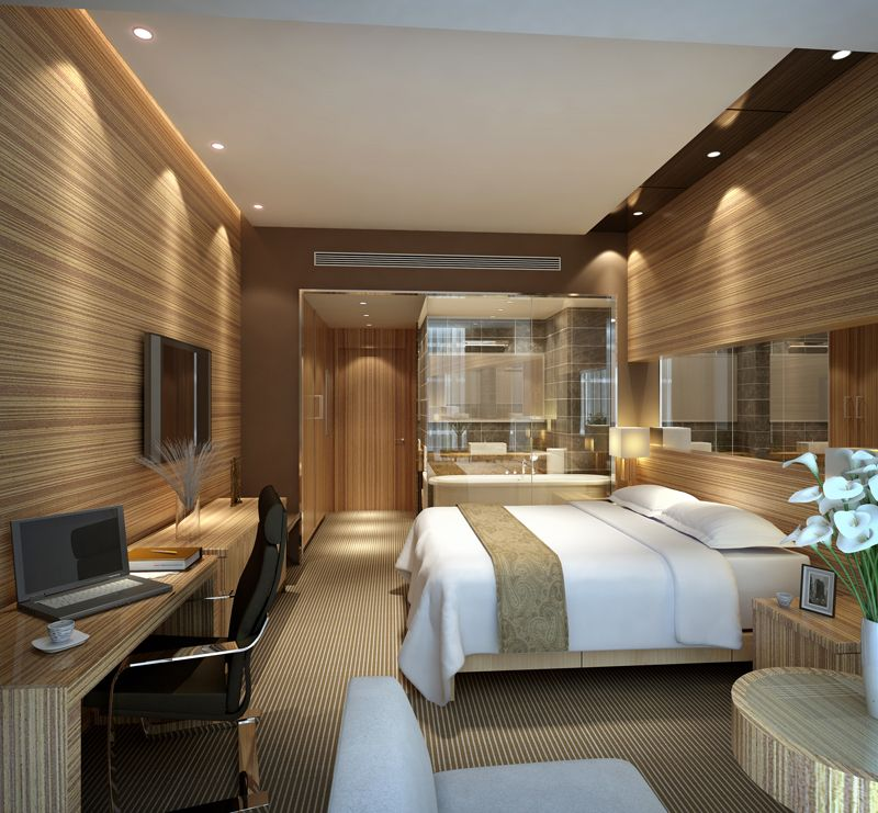 Modern Bedroom Interior Design: Image Detail For -Modern Hotel Room Interior 3d Scene