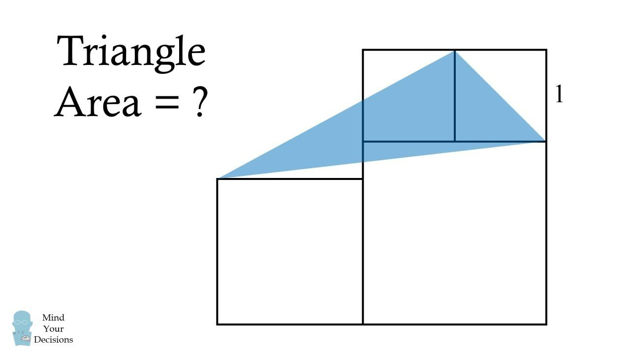 This Is Not Impossible Find The Triangle Area Triangle Area Logic Math Math Genius