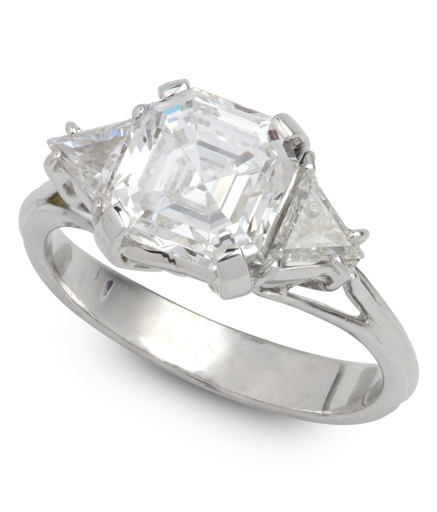 Estate 2 53 ct Diamond & 0 50 ctw Diamond 18K White Gold 4 80gr