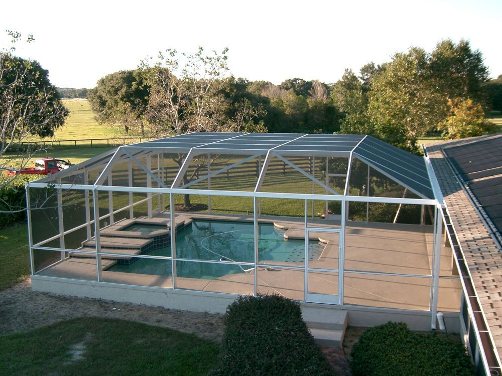 Screened In Pools Of Swimming Pool Screen Enclosures Orlando