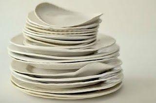 Porcelain paper plates by designer virgina sin & Porcelain paper plates by designer virgina sin | Kitchens ...