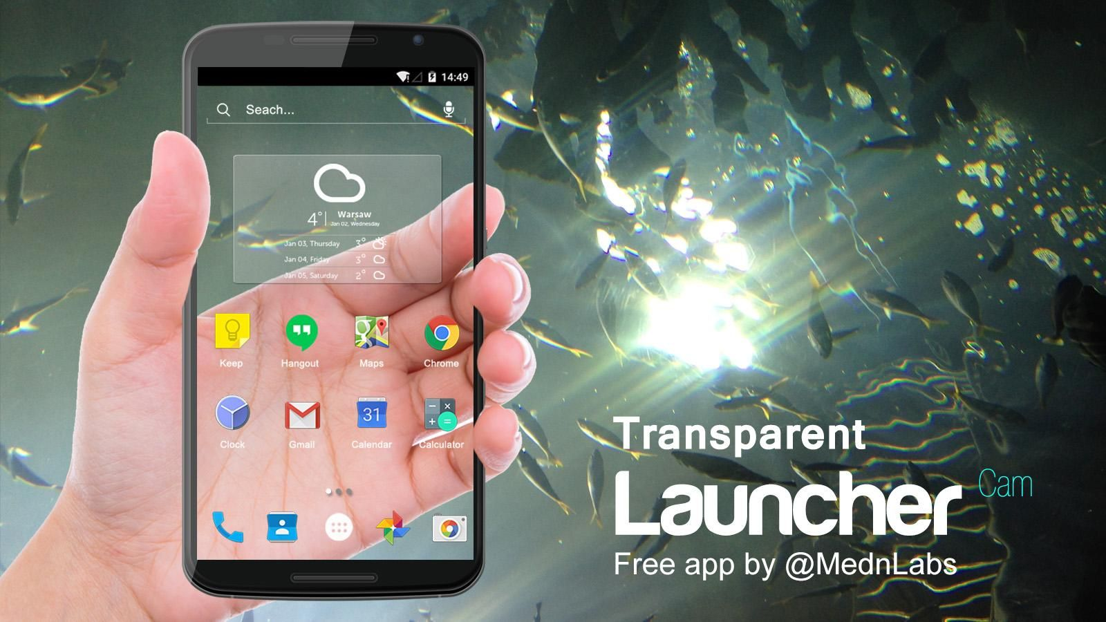 Transparent Launcher Screen 1 Application Android App Android Apps