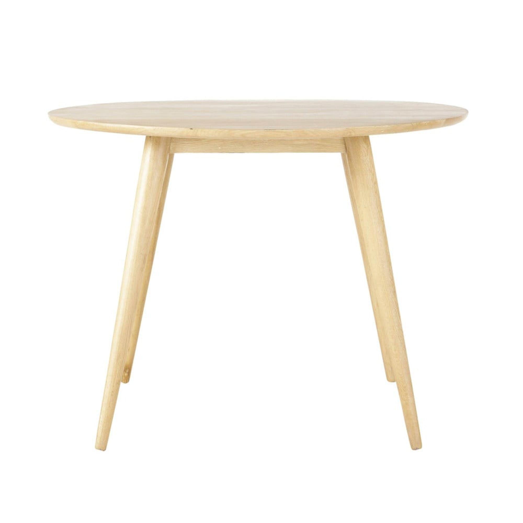 Table A Manger Ronde Vintage En Chene Massif 4 Personnes D100 Maisons Du Monde Salle A Manger Vintage Table Salle A Manger Table A Manger Ronde