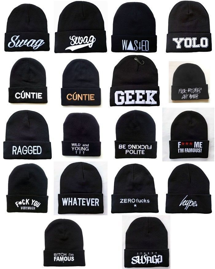 Cheap Los nuevos hombres SWAG YOLO FRIKI Gorros Hip Hop invierno Acrílico  sombreros de lana de a9df81a4d7a