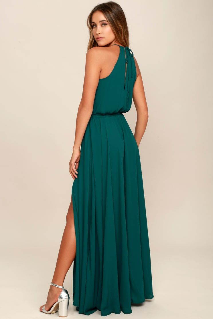 Essence Of Style Teal Green Maxi Dress In 2021 Maxi Dress Maxi Dress Green Black Tie Wedding Guest Dress [ 1116 x 744 Pixel ]