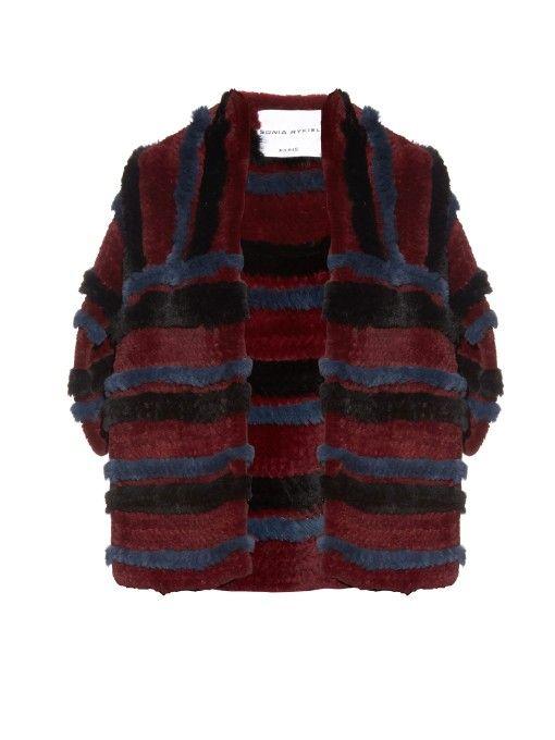Sonia Rykiel Striped rabbit-fur stole
