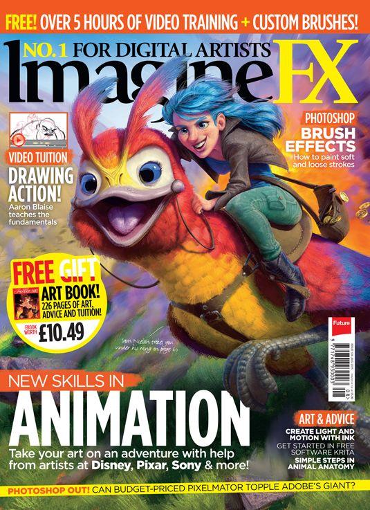 Animate Like A Pro With Imaginefx Magazine Cover Book Art