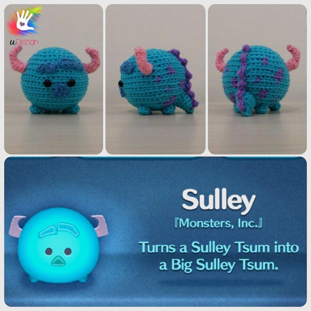Tsum Tsum Sulley Pattern | Ordner, Stricken häkeln und Figuren