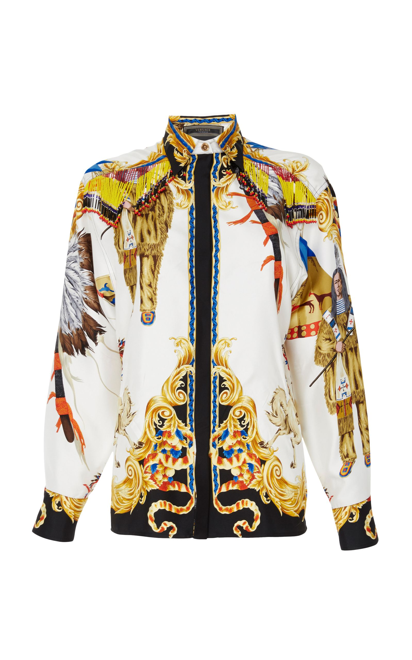 60fc00c52f VERSACE PRINTED BUTTON UP SHIRT. #versace #cloth #   Versace in 2019 ...