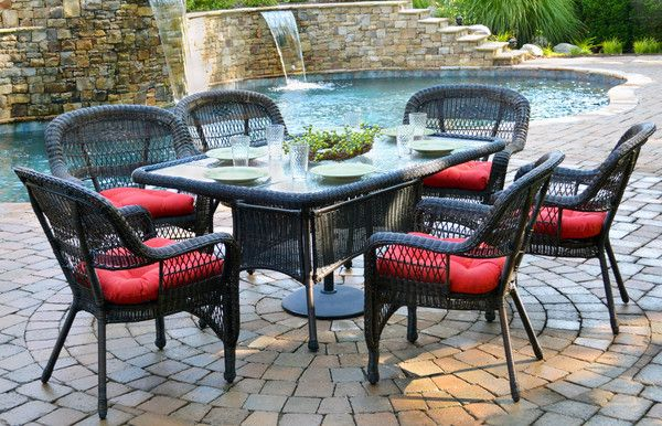 Tortuga Outdoor Portside 7 Piece Wicker Dining Set