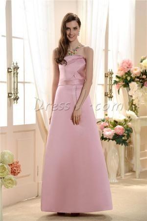 dressv.com SUPPLIES Charming A-Line Strapless Bridesmaid Dress Long Bridesmaid Dresses by abc732556