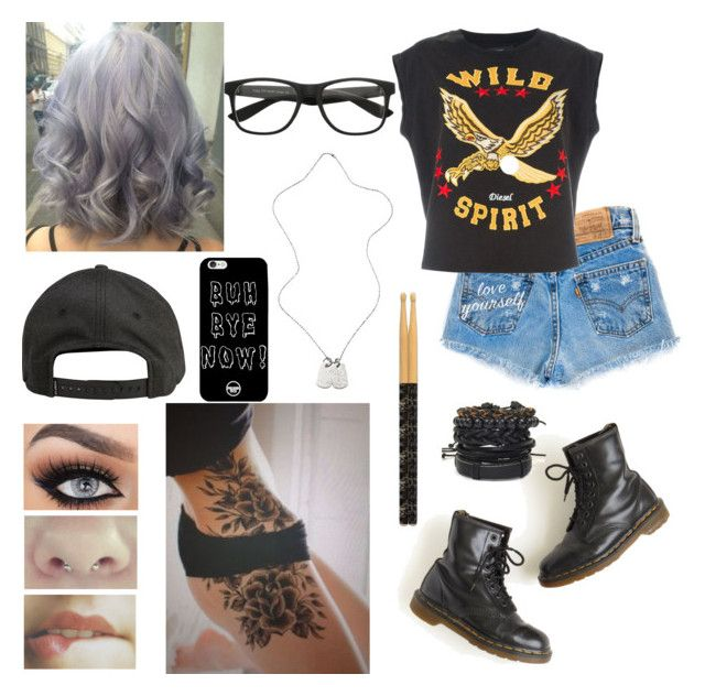 """If I Was In A Band"" by itsjustlulu ❤ liked on Polyvore featuring Diesel, Dr. Martens, Billabong and Tommy Hilfiger"