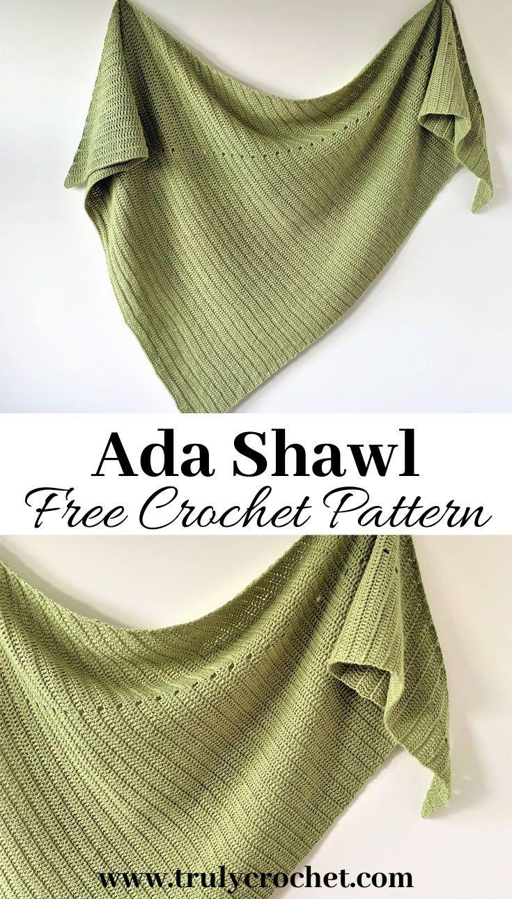 Ada Shawl - Free Crochet Pattern - Truly Crochet
