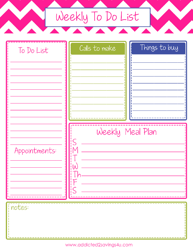 Weekly To Do List Planner Printable #Todolist #Organizated ...