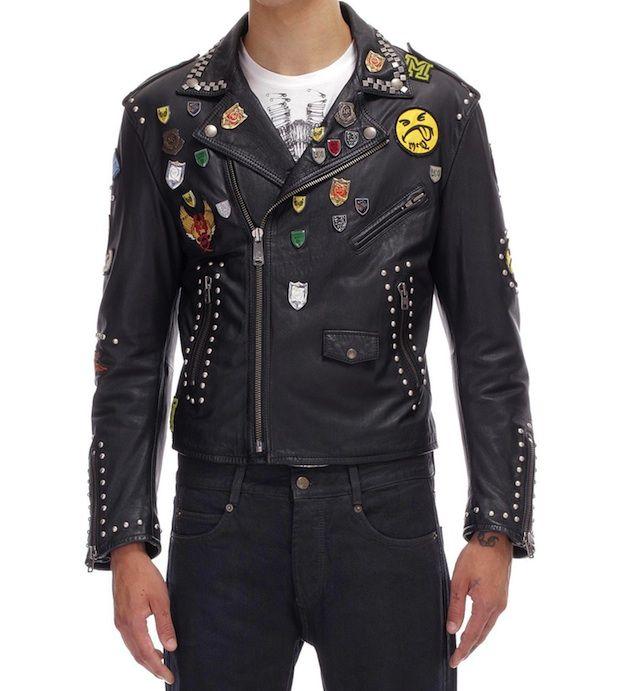 Punk Leather Jacket - JacketIn