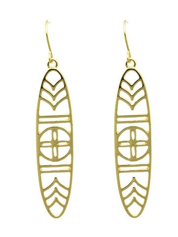 Adorn By LuLu  Fish Hook Earring In Gold U2013 Shop LuLu