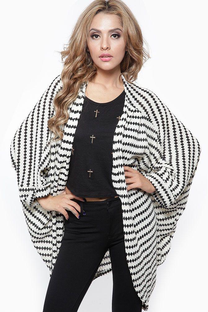 cff84b3e999 Black Diamond Loose Cardigan   Cicihot Clothing