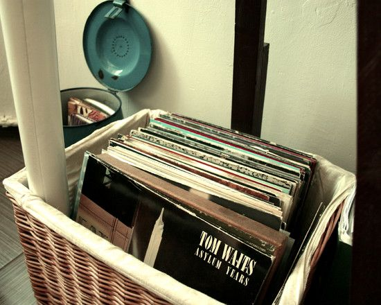Record Storage..such a good idea! mine are in need of a good storage place :)