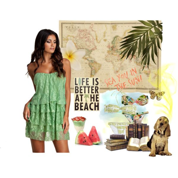 Life is Better at the Beach Outfit Idea 2017
