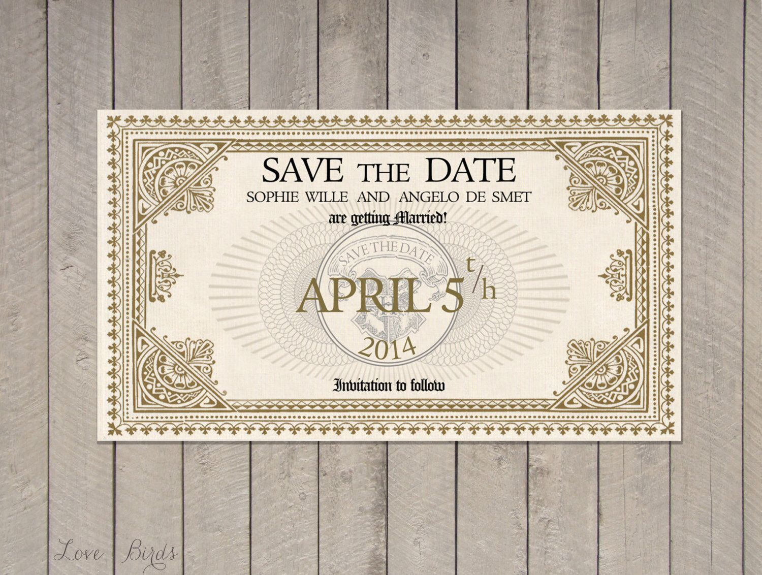 Wedding invitation Harry Potter - Save the Date Train Ticket ...