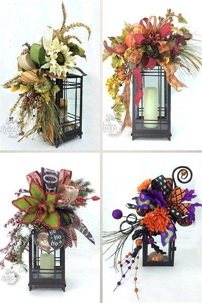 Diy Fall Lantern Swag Tutorial Wreath Ideas For All Holidays