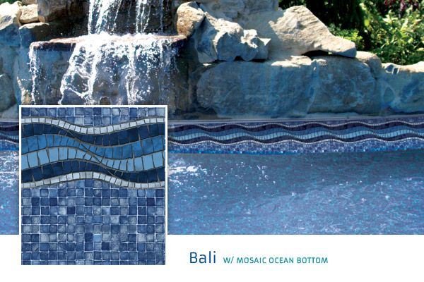 best color inground vinyl pool liners bali w mosaic ocean bottom