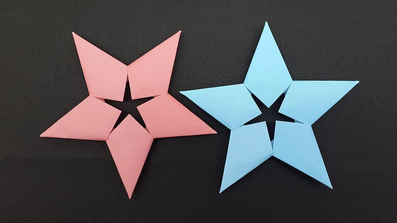 How To Make a Paper Ninja Star Shuriken Origami – Dr. Hacker | 720x1280