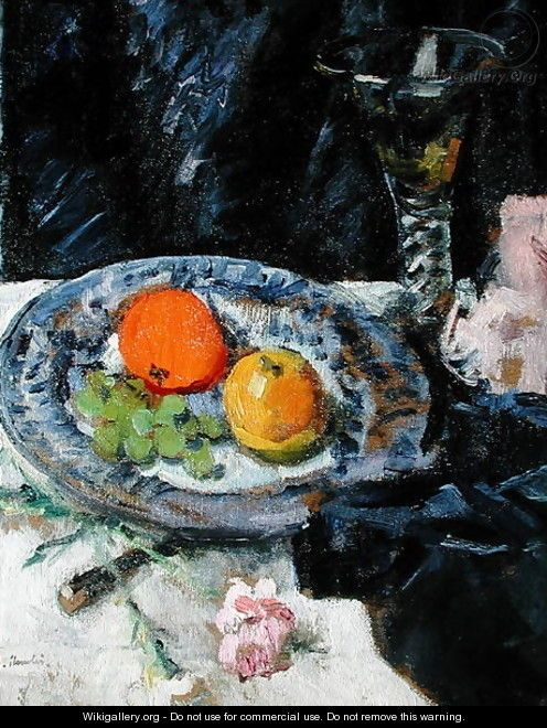 Still life with Fruit - George Leslie Hunter